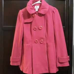 Worthington  pea coat in hot pink
